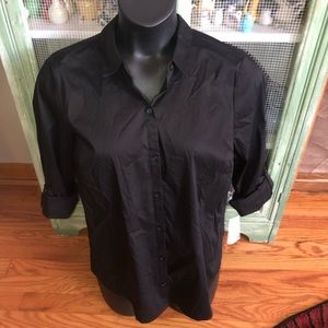 NWT Apt.9 black long sleeve structured shirt XL